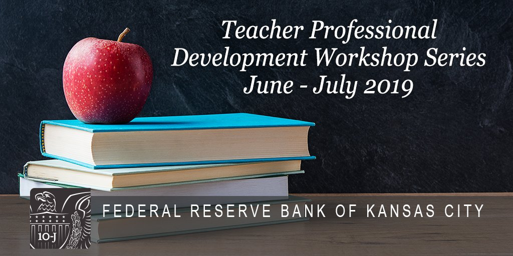 #Teachers-join the #KCFed for the summer professional development workshop series, free to K-16 educators! It will include include classroom resources, visits to local businesses & updates from experts on hot topics tied to econ & personal finance. http://bit.ly/2HrEW1j  #EconEd