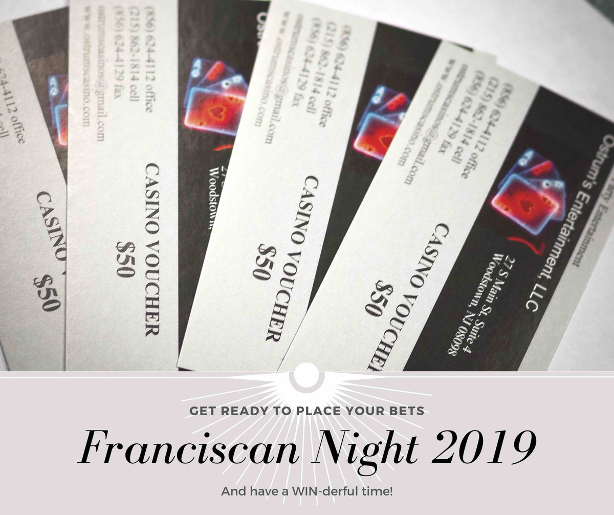 test Twitter Media - Today is the last chance to buy your ticket to the Sisters of St. Francis Foundation's Franciscan Night on May 18 at 7 P.M.! Don't miss out on great prizes, a variety of games, and some friendly competition! It's going to be a night to place your bets on! https://t.co/Mwci3BGgXF https://t.co/ZWh9vC5hjH