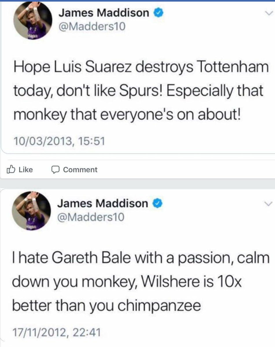 """micky on Twitter: """"This is what James maddison wrote a few years ago about  spurs. An Gareth bale should we try an sign him I think not ??? #COYS  #THFC… https://t.co/18Ysx1eOXf"""""""