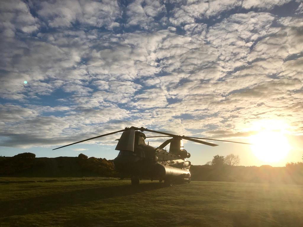 It's been a productive week for the Sqn, operating out of @RAF_Leeming on one of two concurrent exercises. We even had time to appreciate the sunset at Catterick last night!