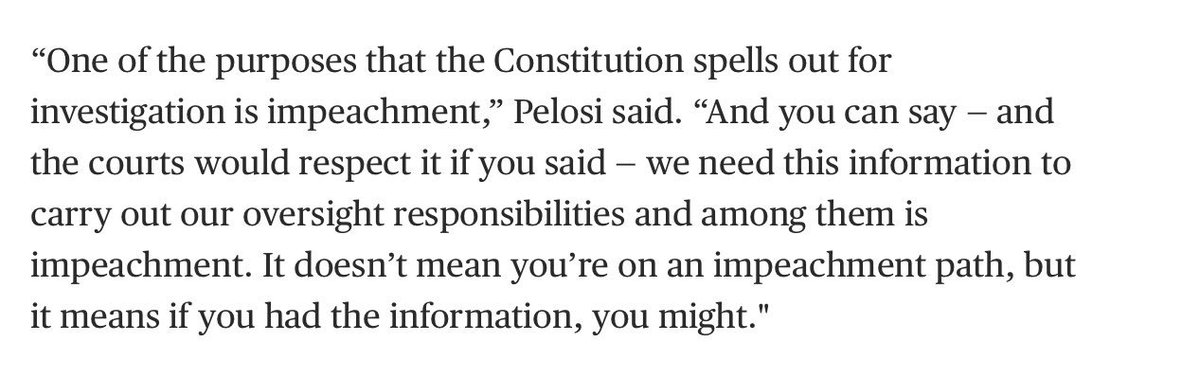 Pelosi has proved herself, again and again, to be smart AND tactical. I trust her, even if she insists on moving slower than I would like. From yesterday <br>http://pic.twitter.com/aKNu7OXBQe