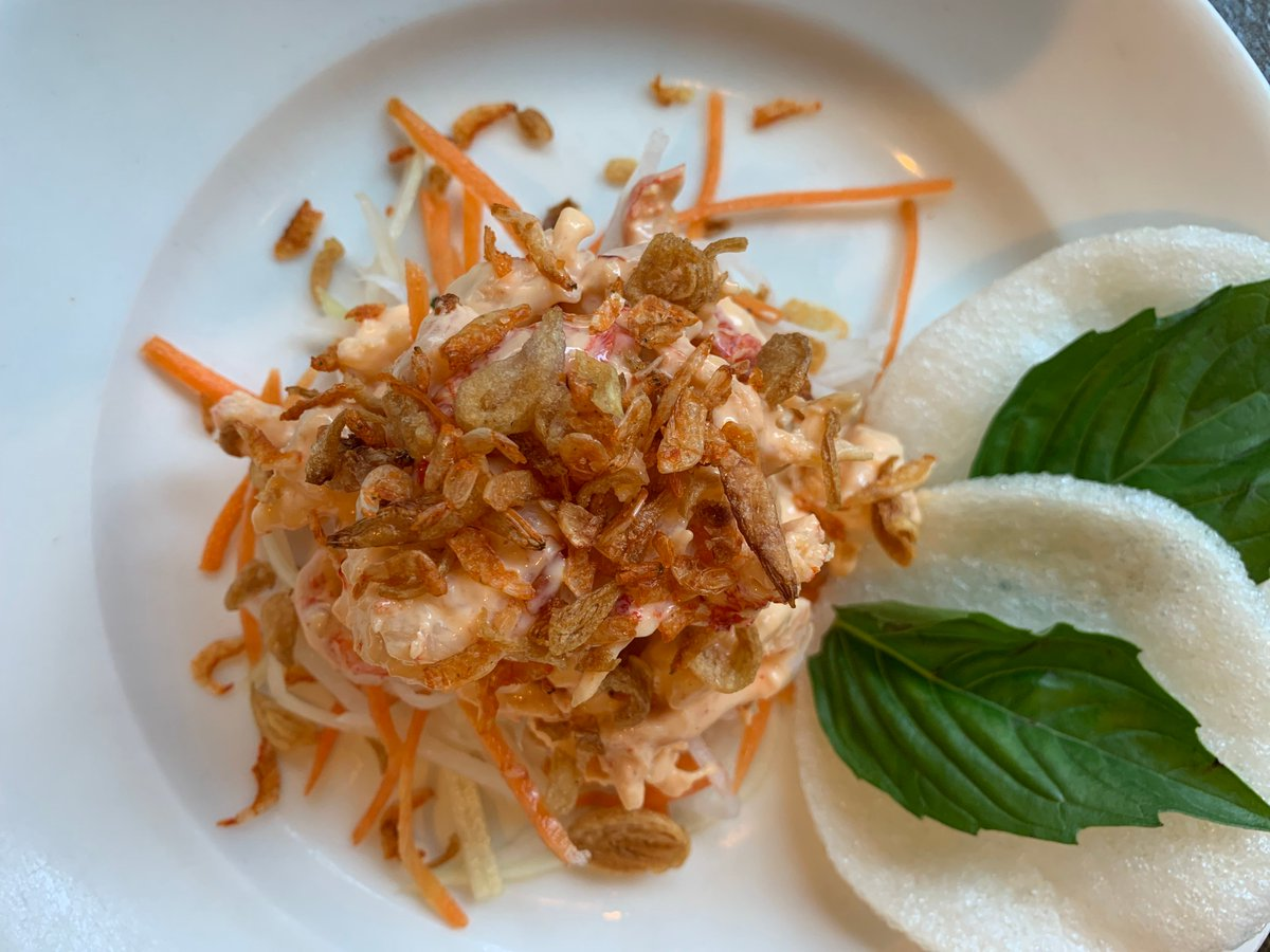 Make it Fri-Yay! Stop in for lunch and try our Vietnamese Salad - today only! Featuring Crawfish, Shrimp, Chili Paste Remoulade,Puffed Rice Chips, Cilantro, Mint, and Thai Basil.