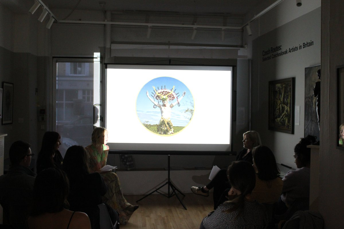 Thank you to @terezabuskova and @MilaFurstova for being open about their vulnerabilities as artists, mothers and immigrants. Dr. Tereza Porybna led an inspiring discussion on the meeting of past and present, familiar and foreign, and the power of mushrooms! (you had to be there)