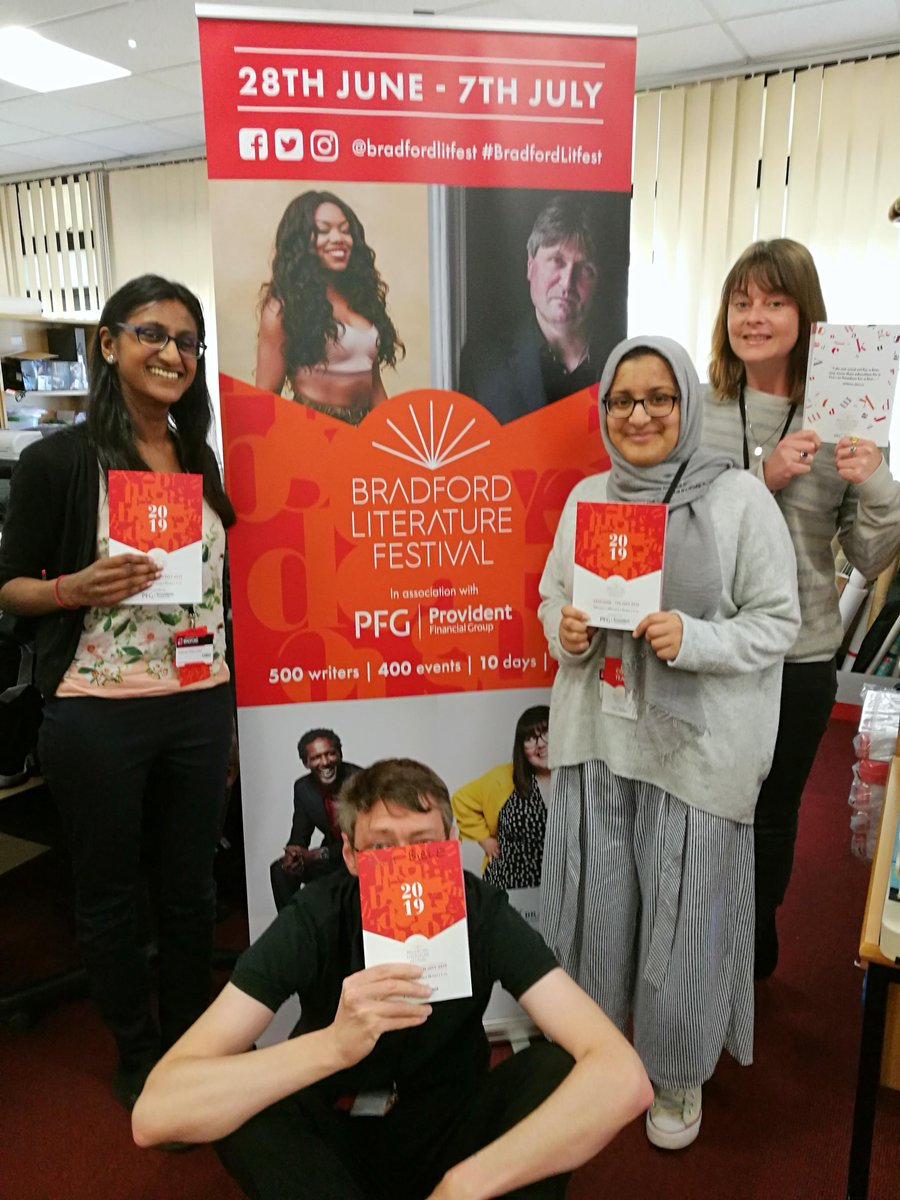 🥳📢 Our 2019 #BradfordLitFest brochure has landed in our office!! 🥳 📢 We are incredibly proud and excited about this years fantastic line up and we cant wait to share these brochures with you, they will be popping up very soon in and around Bradford so keep an eye out! 👀