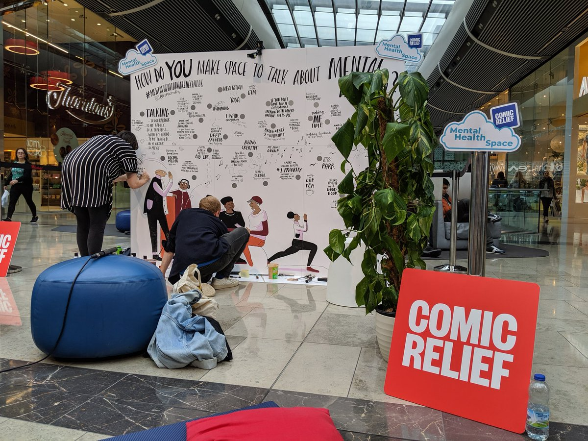 Wow our wall at @westfieldstrat is filling up so quickly!! All of you who've stopped by to chat and sent in some amazing self care and mental health wellbeing tips have offered some incredible advice and insights. Keep them coming! #MentalHealthAwarenessWeek