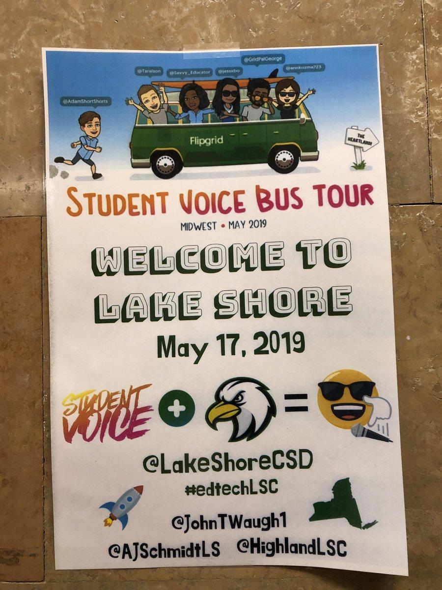 @LakeShoreCSD w @Flipgrid bus tour!! So exciting!!