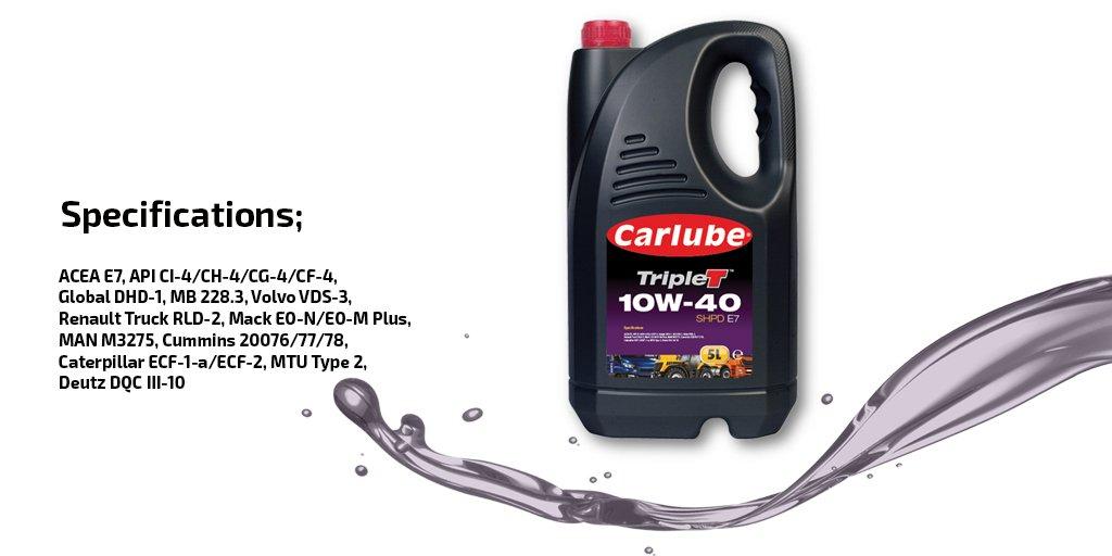 Les huiles Carlube TripleT sont un choix idéal. dans - - - Gros plan D6xwKtzW0AAQyRL
