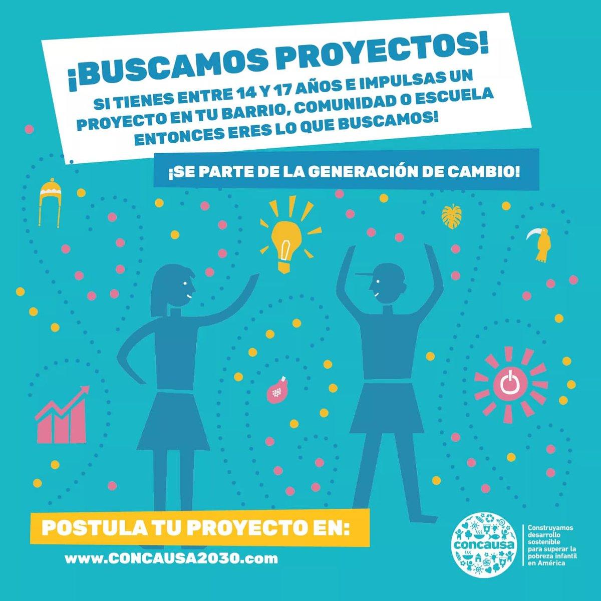 ¡Si tenés un proyecto que contribuya a la #Agenda2030 y tenés entre 14 y 17 años no dudes en postular y ser parte del cambio que el mundo necesita! Ingresá acá ➡️http://www.concausa2030.com/espanol/   #ODS @ComisionOds @los_ods @paraguayabierto @CTS_Paraguay #GlobalGoals @CentroOds @el_BID