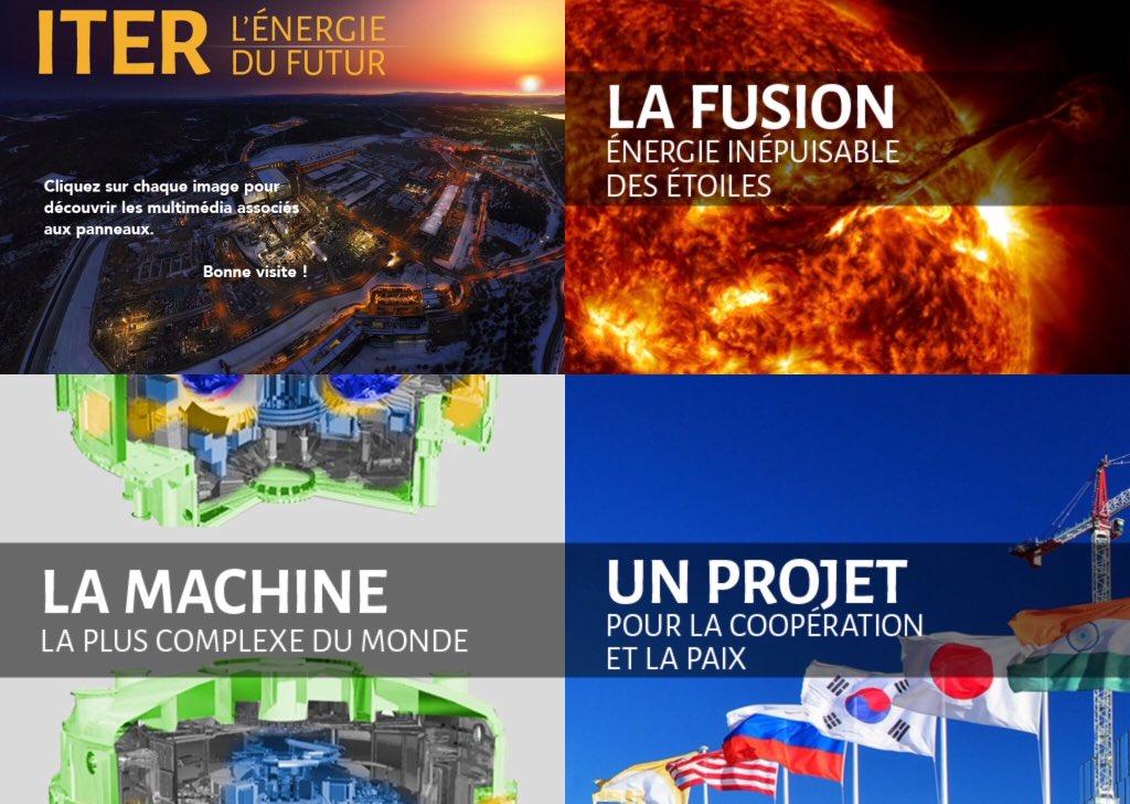 """Rendez-vous demain aux journées portes ouvertes d'@iterorg pour échanger sur ce projet scientifique majeur et présenter notre expo connectée """"#ITER l'énergie du futur"""". #Fusion #Plasmas"""