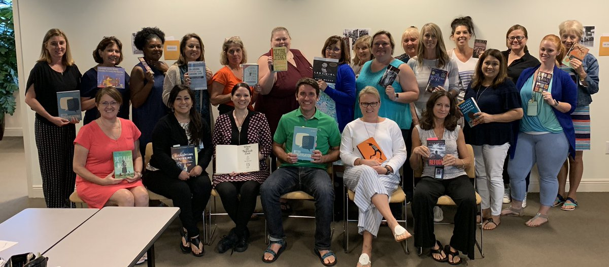 Last reading coach meeting of the 18-19 school year! Farewell &amp; best of luck to Literacy Coordinator @dtracy213 &amp; Literacy Specialist @literacymanders. #FridayFeeIing #FridayReads<br>http://pic.twitter.com/IdilWrwuaX &ndash; à Artis—Naples