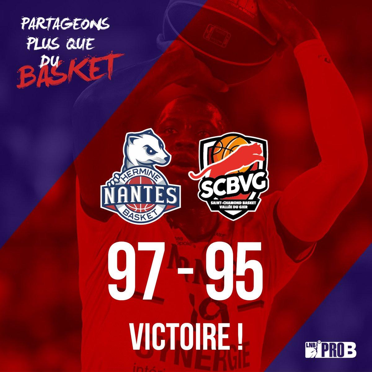 ⏱️ FM - VICTOOOOOIRE ! C'est désormais officiel : l'accession en playoffs se jouera lors de la toute dernière journée à @DENAIN_VOLTAIRE !  #NBH - @SCBVG  9⃣7⃣-9⃣5⃣  #LNB #PROB #NBHLive
