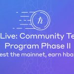 Image for the Tweet beginning: We're live! Come earn $hbar