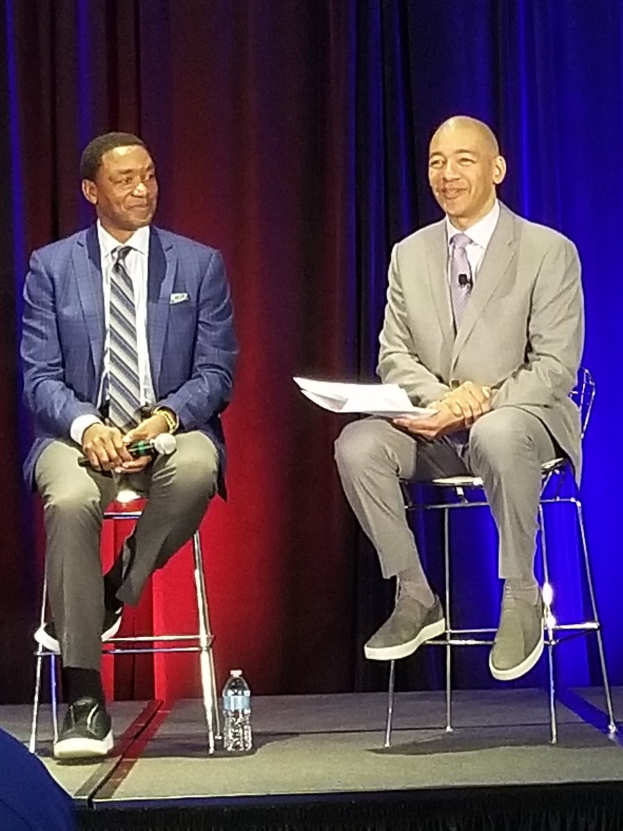 The @NBA JrNBA Conference is a great experience! The Leadership Education, guest speakers & being amongst some of the best in the world of basketball are all tremendous opportunities! #IsiahThomas #AllanHouston #RickCarlisle #FranFraschilla #JAAdande #BetsyButterick