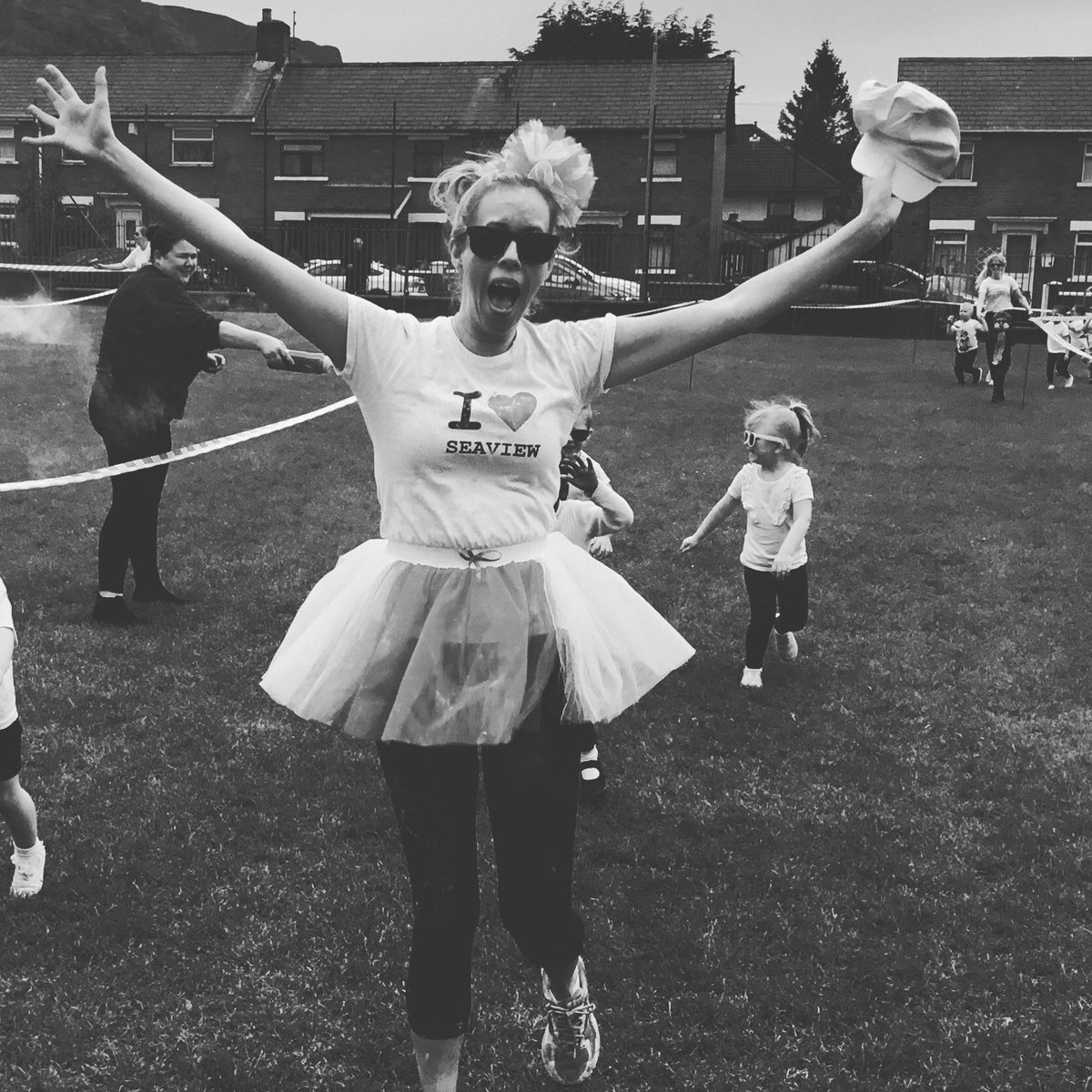 What a great school day... celebrating 85 years of education in @seaviewps with a colour dash #bestdayever #coveredinpaint #kidslovedit