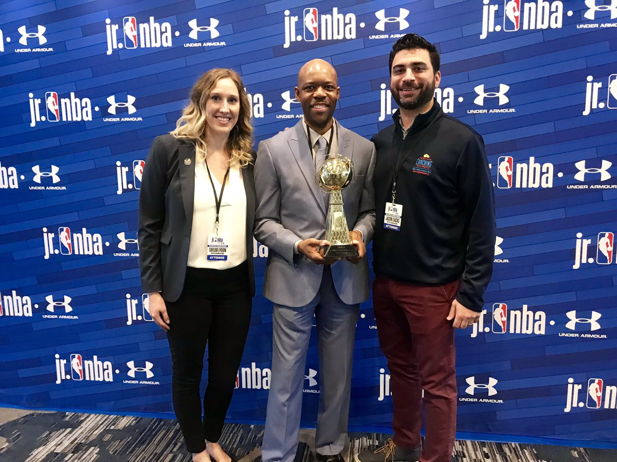 We are thrilled to partner with the @jrnba and honor Jason Curry on winning Jr. NBA Coach of the Year! #JrNBACOY #JrNBAUAConference