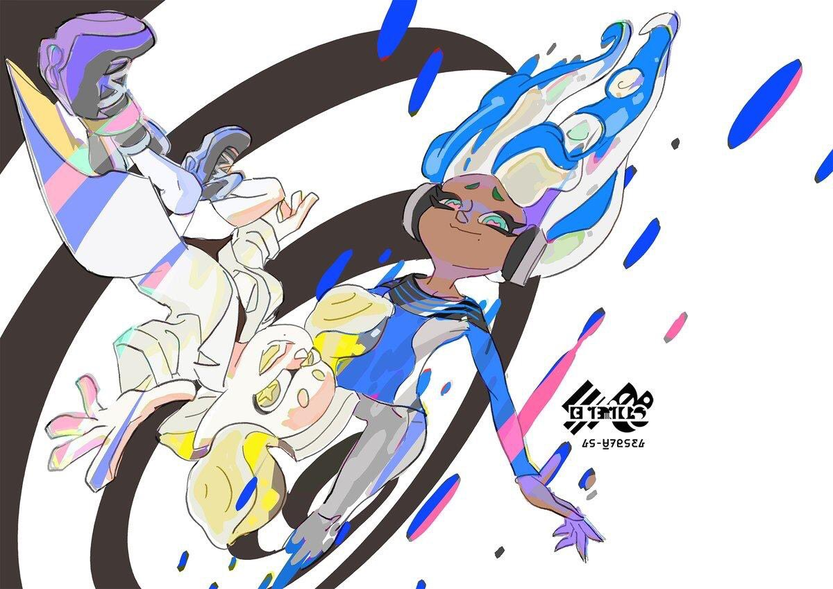 NEWS: The artwork for tonight's #Splatfest has been revealed!  Which side are you on, Time Travel or Teleportation?