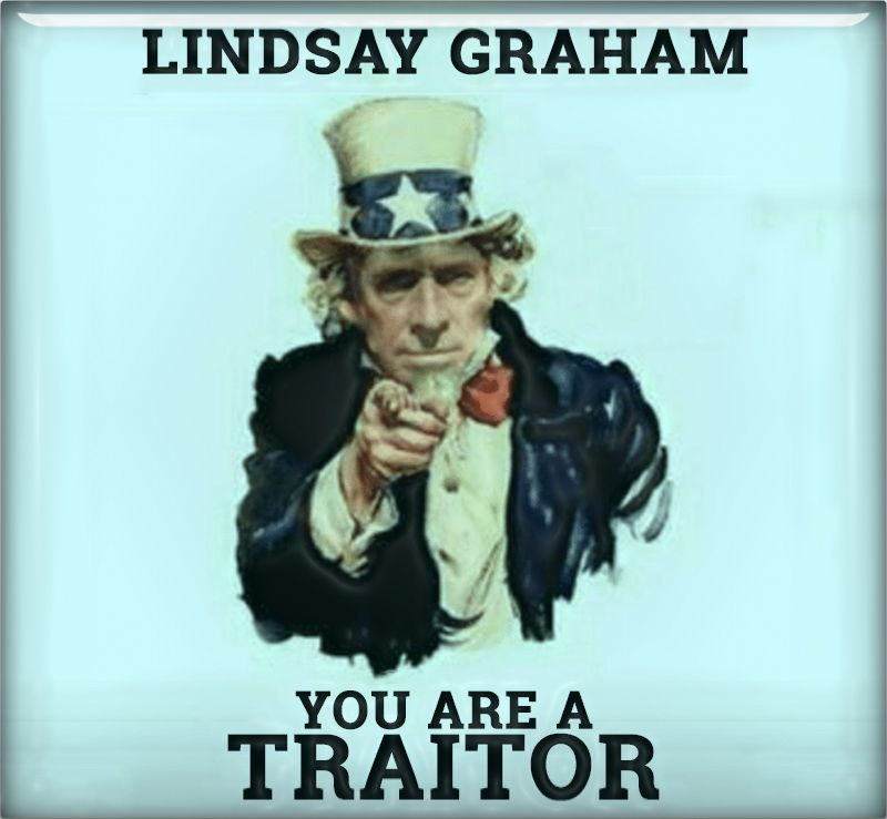 """Lindsay Graham is """"winning"""" at trending! Day one: #LindsayGrahamResign Day two: #LindseyGrahamObstructed  Day three: #LindseyTheLapdog Day four: #LindseyTheTraitor How will traitor Lindsey be trending tomorrow?<br>http://pic.twitter.com/sl49UF58ti"""