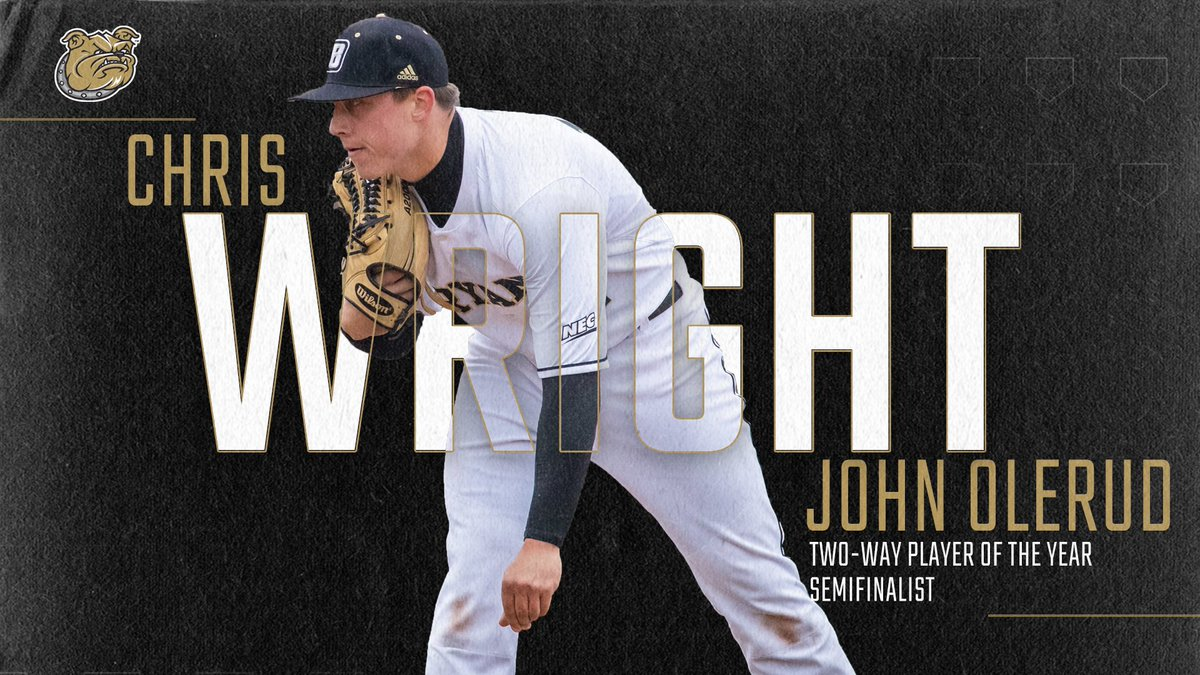 .@ChrisWright0909 has excelled at the plate and on the mound, and it hasn't gone unnoticed.  He was named one of 11 semifinalists for the John Olerud Two-Way Player of the Year award this week!  http://bit.ly/WrightOlreud517  #TCD