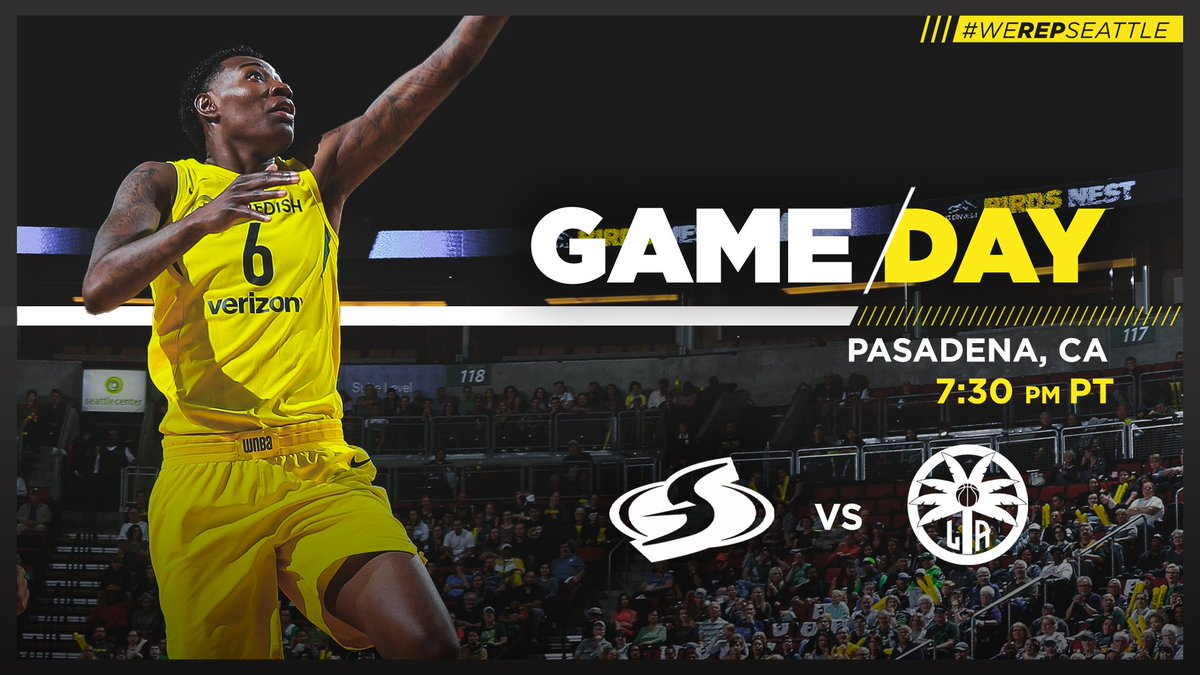💥🏀 GAMEDAY in LA 🏀💥  We take on the @LA_Sparks tonight at 7:30pm   #WeRepSeattle