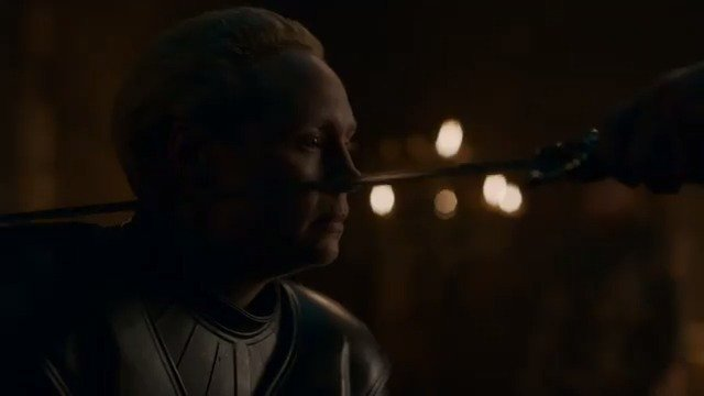 A Knight of the Seven Kingdoms.  @lovegwendoline's final words to the realm. #GameofThrones