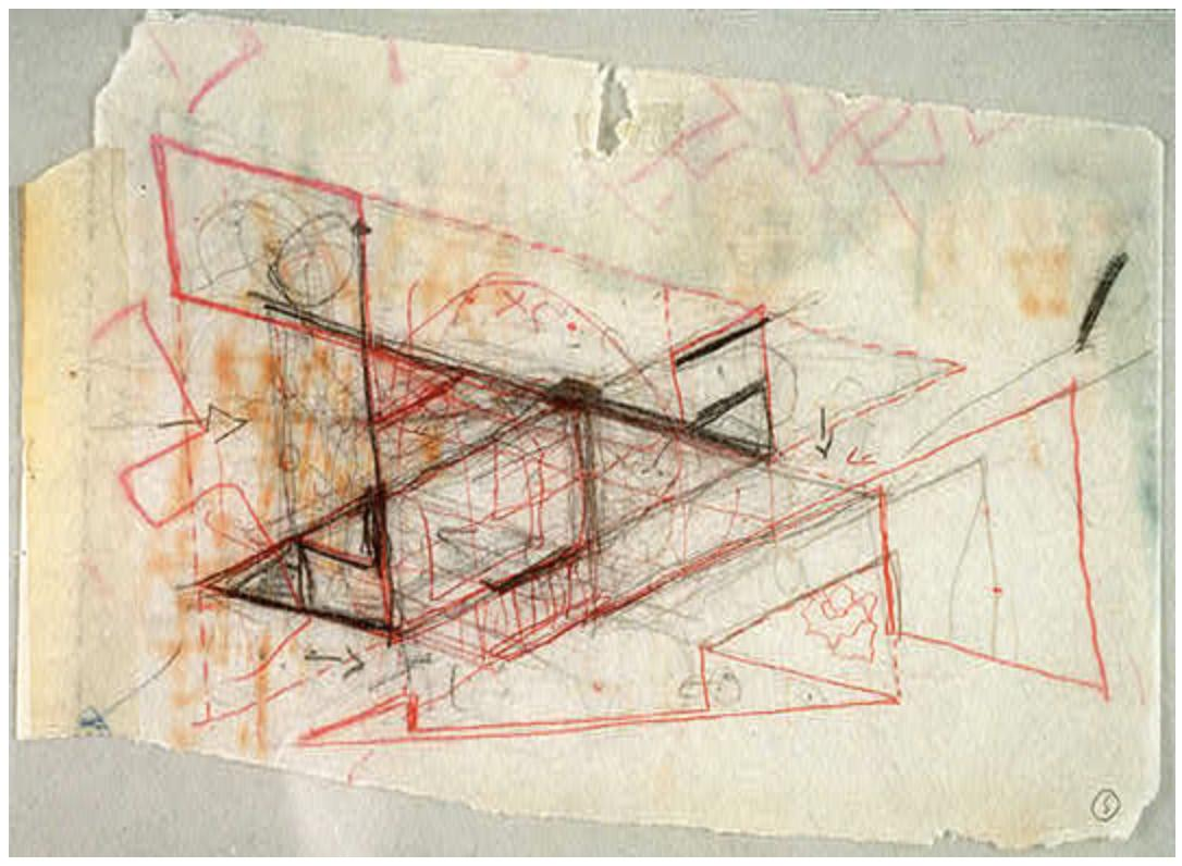 I. M. Pei. working sketch for building plan, National Gallery of Art East Building, 1969 nga.gov/features/slide…