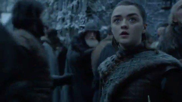 The Hero of Winterfell.  @maisie_williams says goodbye to #GameofThrones