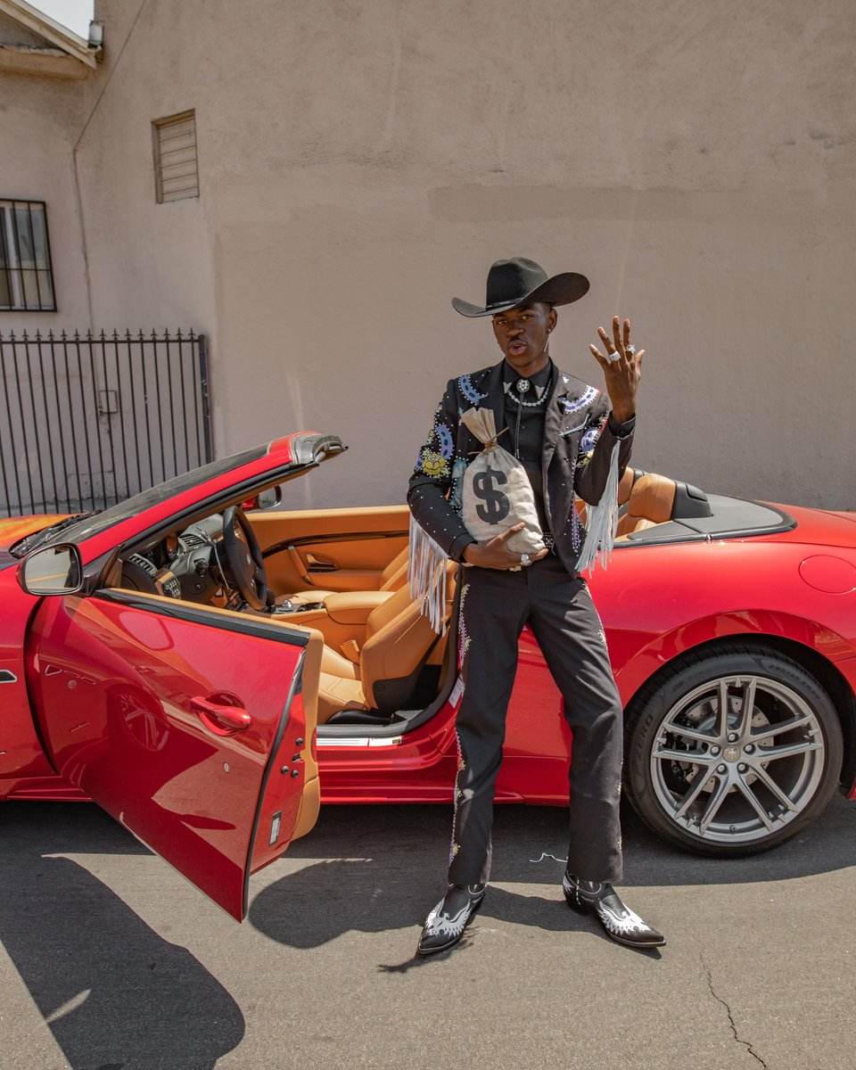 Time travel, Maseratis,  (duh) and even Chris Rock (?!) all have a moment in @LilNasX's #OldTownRoadMovie. Go BTS of making the video today on our IGTV. https://www.instagram.com/tv/BxketWwgFFC/
