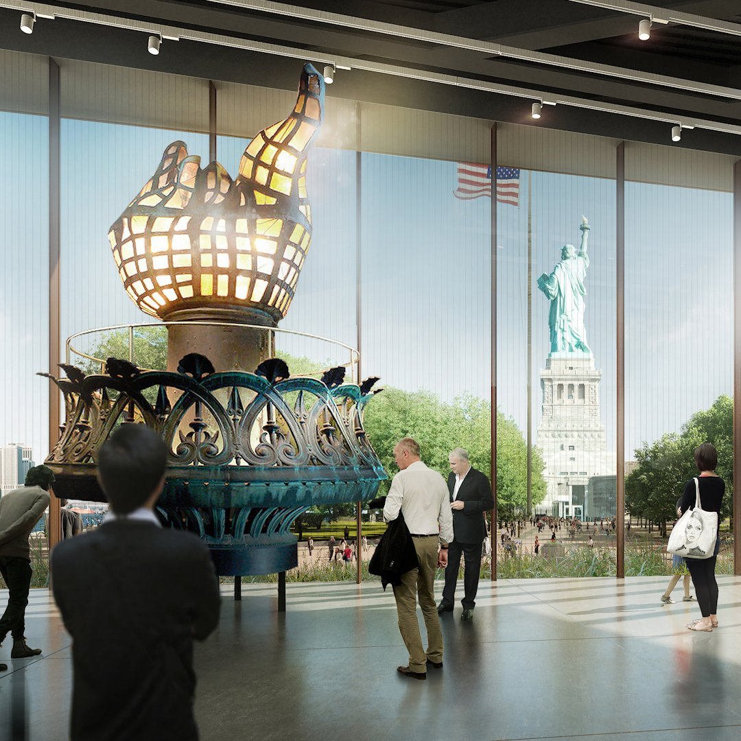 See behind the scenes as the Statue of Liberty's original torch moves to its new home http://mag.time.com/tXOfqvd