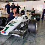 It wasn't just @karunchandhok and the #WilliamsHeritage customers driving at Jerez!  Jonathan Williams got behind the wheel of the FW08C, as driven by Keke Rosberg 🙌