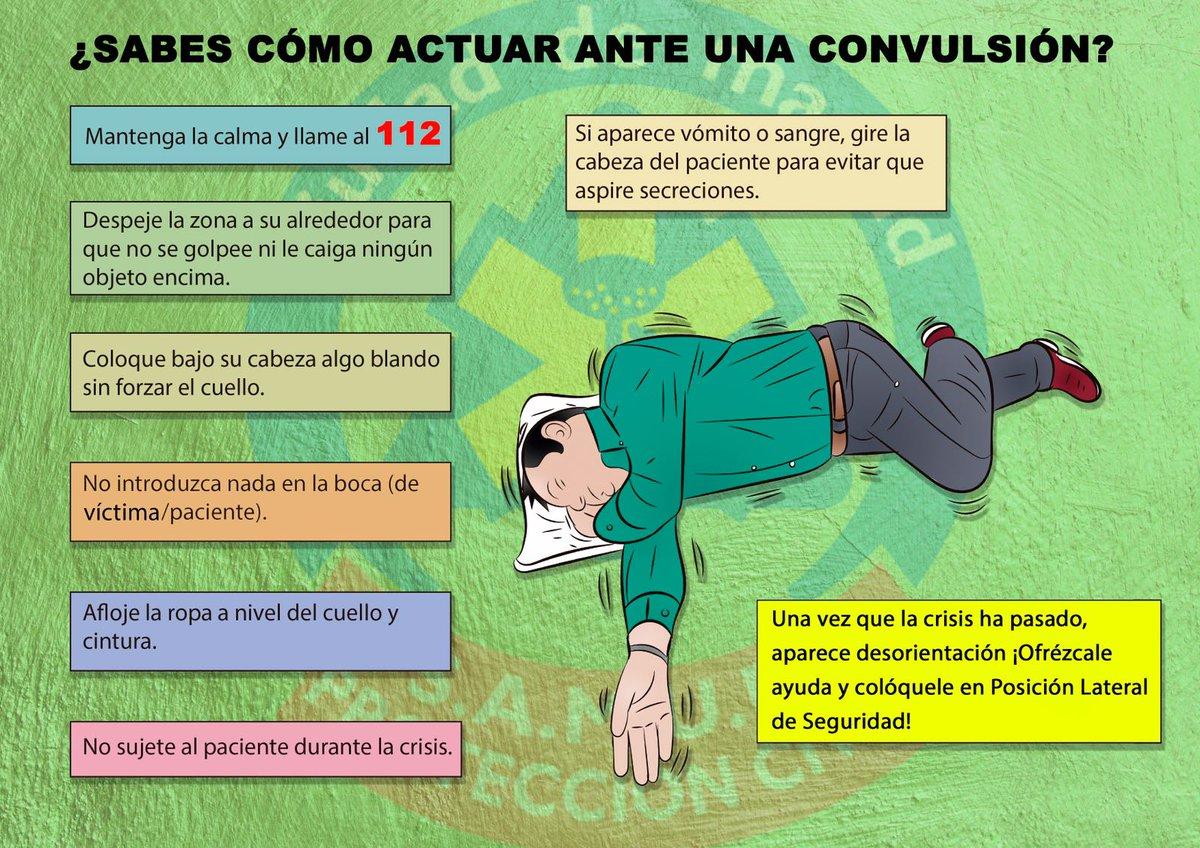 ℹ️Ante una persona con convulsiones, debes tener en cuenta estas sencillas pautas.  Y siempre llamar 👉🏼📲1-1-2