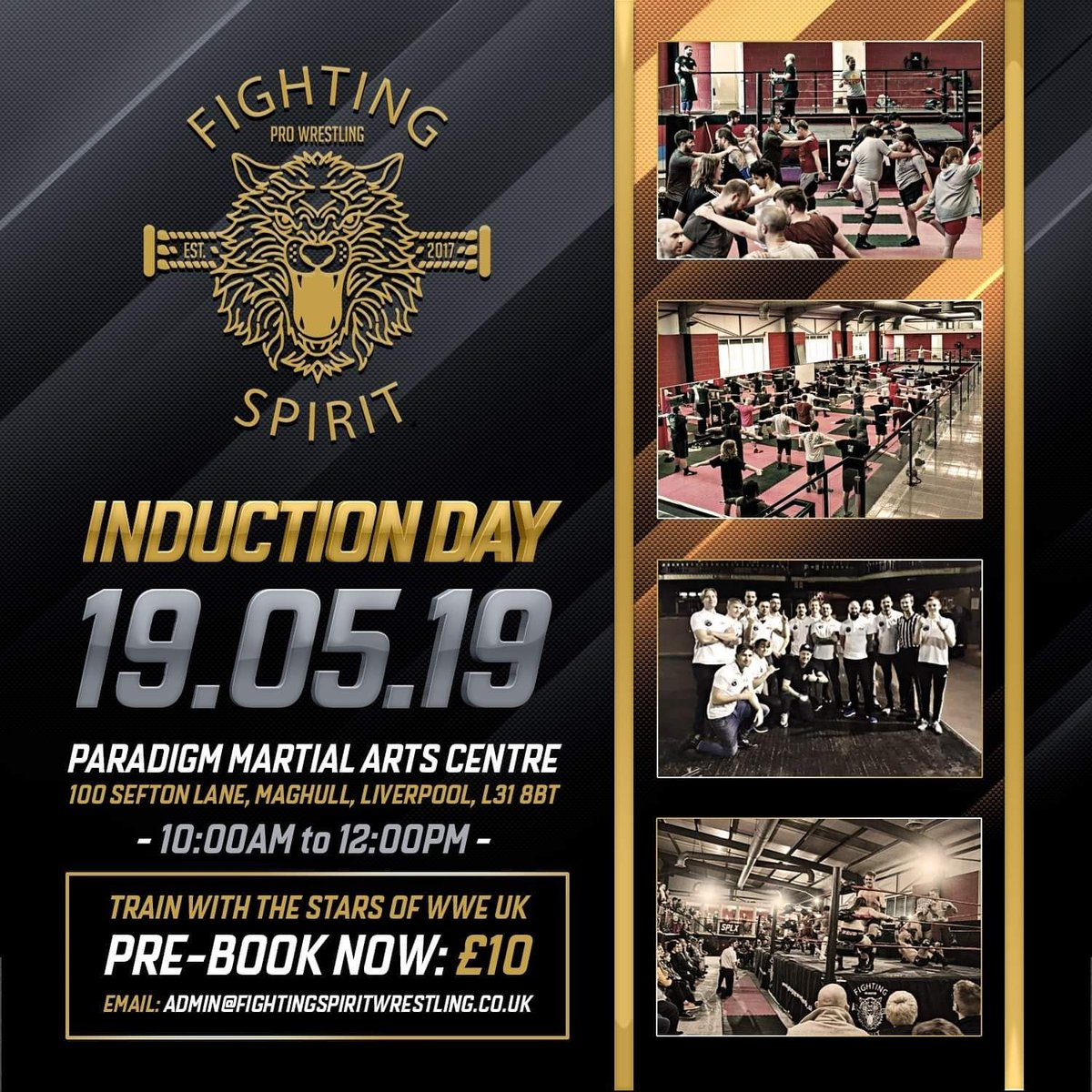 We are very proud to announce THIS SUNDAY we will be hosting Fighting Spirits first ever induction day! Note: ANYONE IS WELCOME (You don't need any athletic background) for more info, Email: Admin@fightingspiritwrestling.co.uk FOLLOW YOUR DREAM!