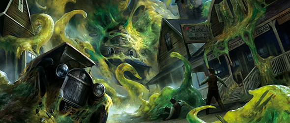 Join us at Gen Con 2019 and witness the terror that's sweeping over Arkham with The Blob That Ate Everything event for Arkham Horror: The Card Game! Registration begins May 19th! #ArkhamLCG http://fal.cn/AM.T