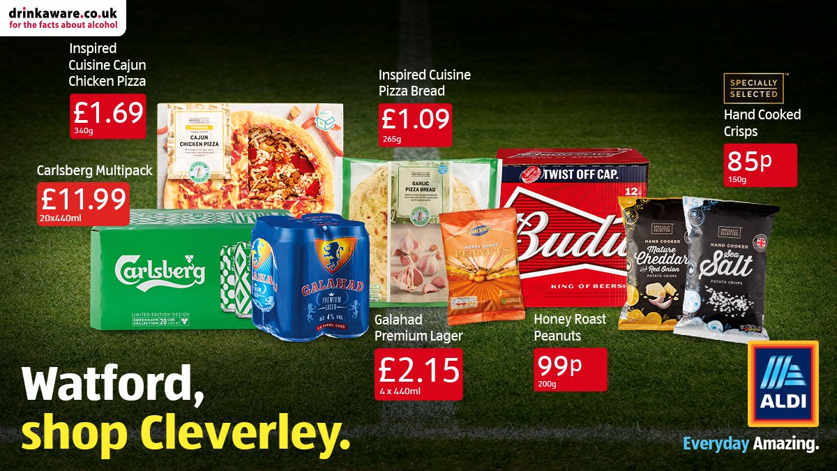 Get ready for kick-off at 5pm on Saturday with all your big match essentials from Aldi ⚽. Who will you be supporting?