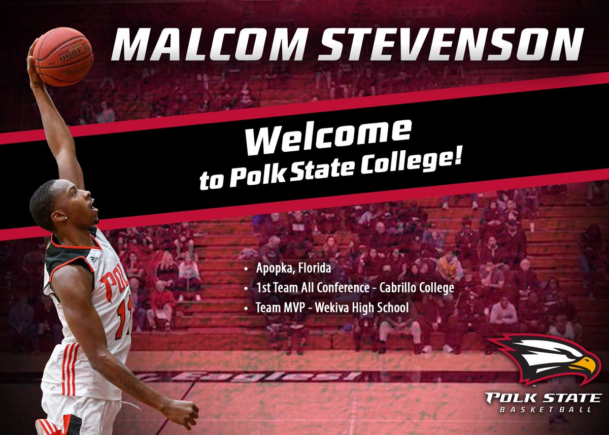 POLK COUNTY!!!!! Let's officially welcome Malcom Stevenson to Eagle Nation!!! Excited to have this kid on board! His maturity, leadership and ability to score the ball will be huge part of the Eagles success this up coming season. @begreatmac #TogetherWinners