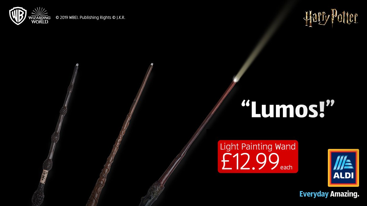 Wands at the ready… Tell us your tricks for the chance to #WIN one of three wands. T&Cs apply: http://bit.ly/2Vzpyok In store Sunday #HarryPotter