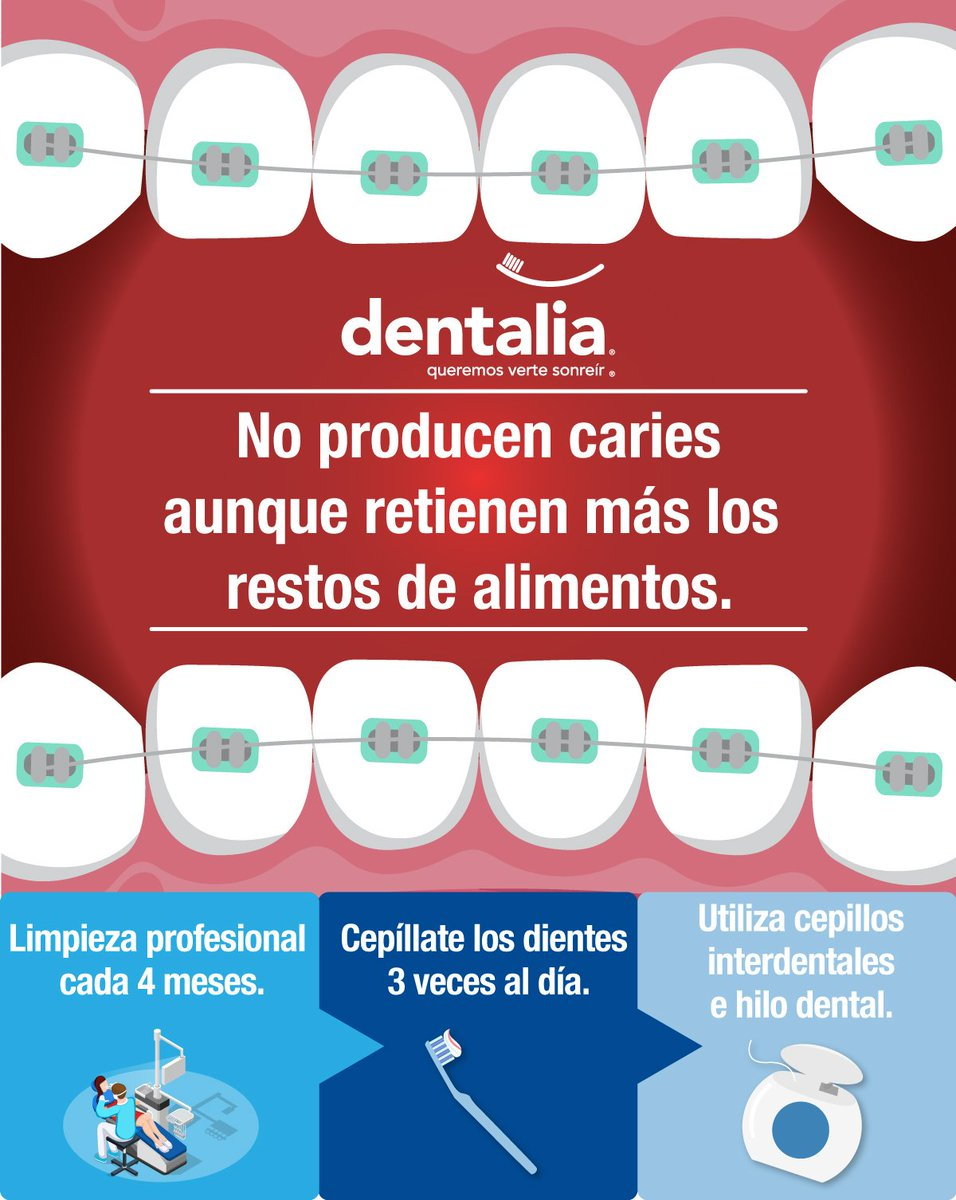 ¿Los brackets causan caries?  #dentalia #queremosvertesonreir #BuenViernes <br>http://pic.twitter.com/diQOB73KDh