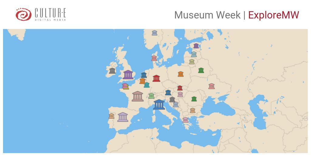 Oggi con #ExploreMW🔎abbiamo ascoltato le conversazioni online della #MuseumWeek in Europa🇪🇺 I musei italiani 🇮🇹 risultano i più attivi della giornata. Complimenti a tutti! Appuntamento a lunedì con lanalisi complessiva della settimana dei #musei #StayTuned #SocialIntelligence