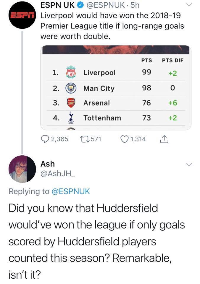 What a reply 😂😂👏