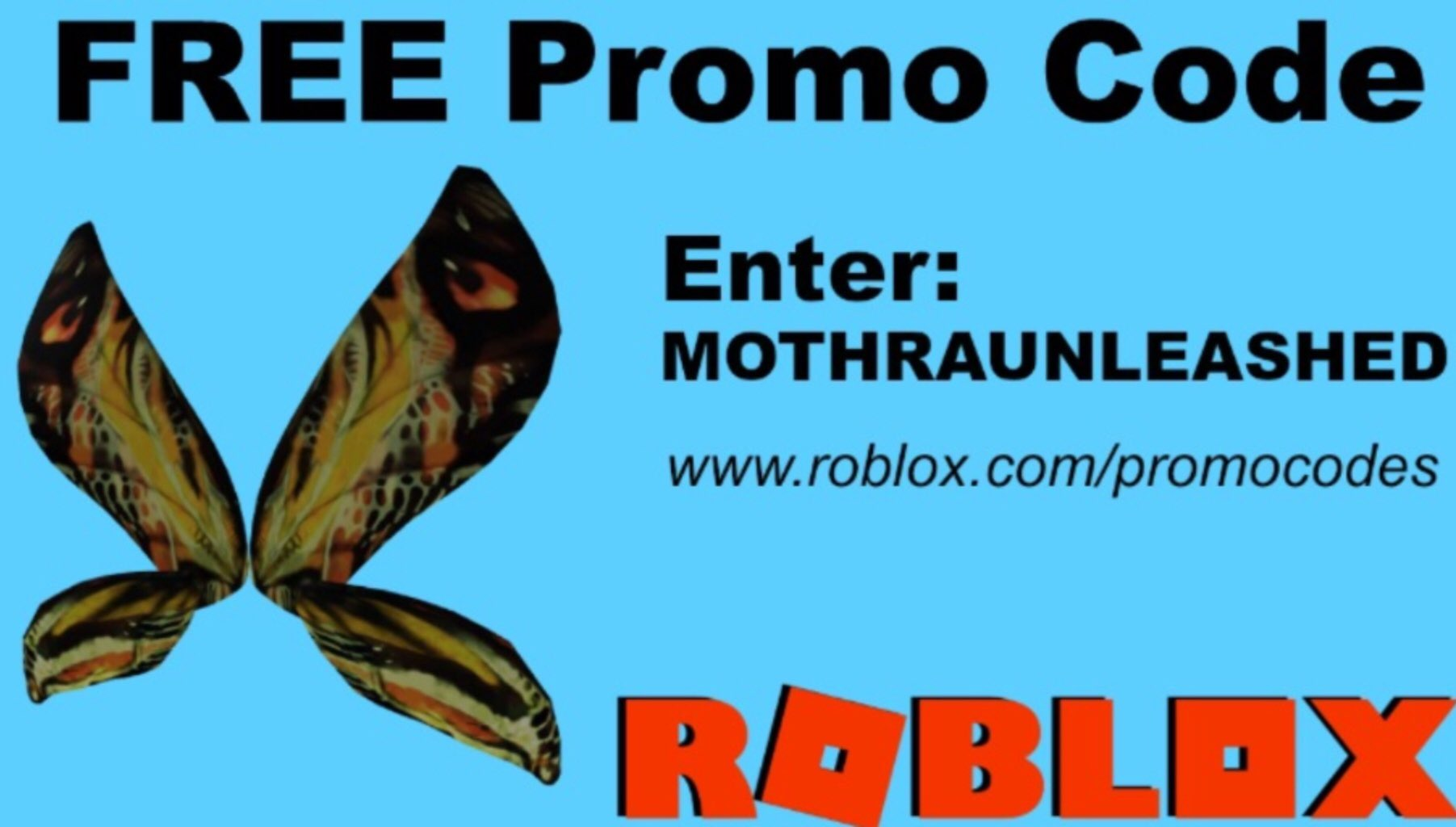 roblox butterfly wings promo code