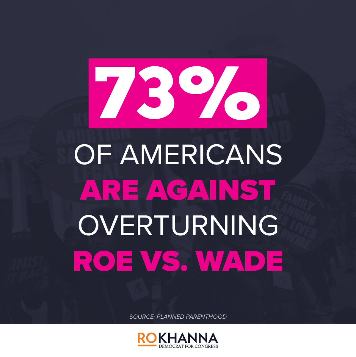 This Republican attack on a woman's constitutional right to an abortion isn't supported by the American people. We are ready to fight back. #AbortionIsAWomansRight