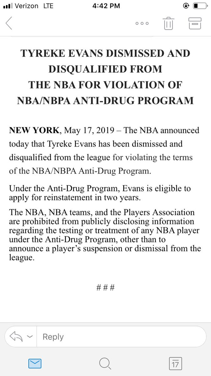 Tyreke Evans Banned From NBA For Violating Drug Policy
