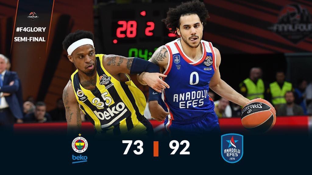 EuroLeague'de finale kalmayı başaran @AnadoluEfesSK tebrik eder,final mücadelesinde başarılar dileriz. Ülkemizi EuroLeague'da başarıyla temsil eden @FBBasketbol verdikleri  mücadeleden ötürü tebrik ederiz. Sizlerle gurur duyuyoruz,yaşattığınız heyecan için teşekkür ederiz💪🏻🇹🇷