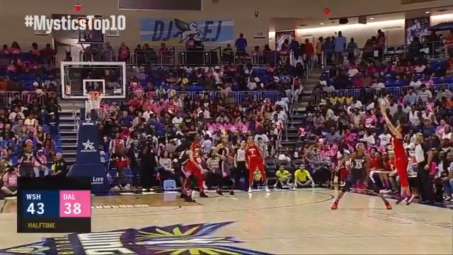 #MysticsTop10 #⃣9⃣: @KristiToliver beats the buzzer from WAY beyond the arc 💦🤯!   Watch the @WashMystics starting 6/1: http://monsports.net/sub