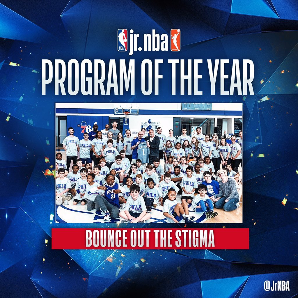 Congratulations to Bounce Out The Stigma and @MikeSimmel11 for being named the #JrNBAProgramoftheYear!