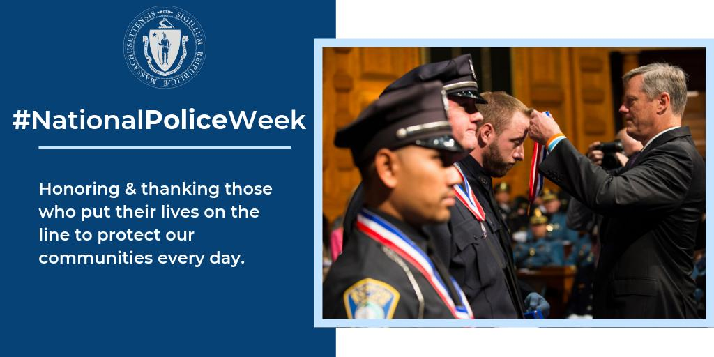 As we close out #NationalPoliceWeek, we should all take a moment to thank our brave law enforcement officers who put their lives on the line for our communities every single day. We also honor those lost in the line of duty, and re-affirm our support for their families.