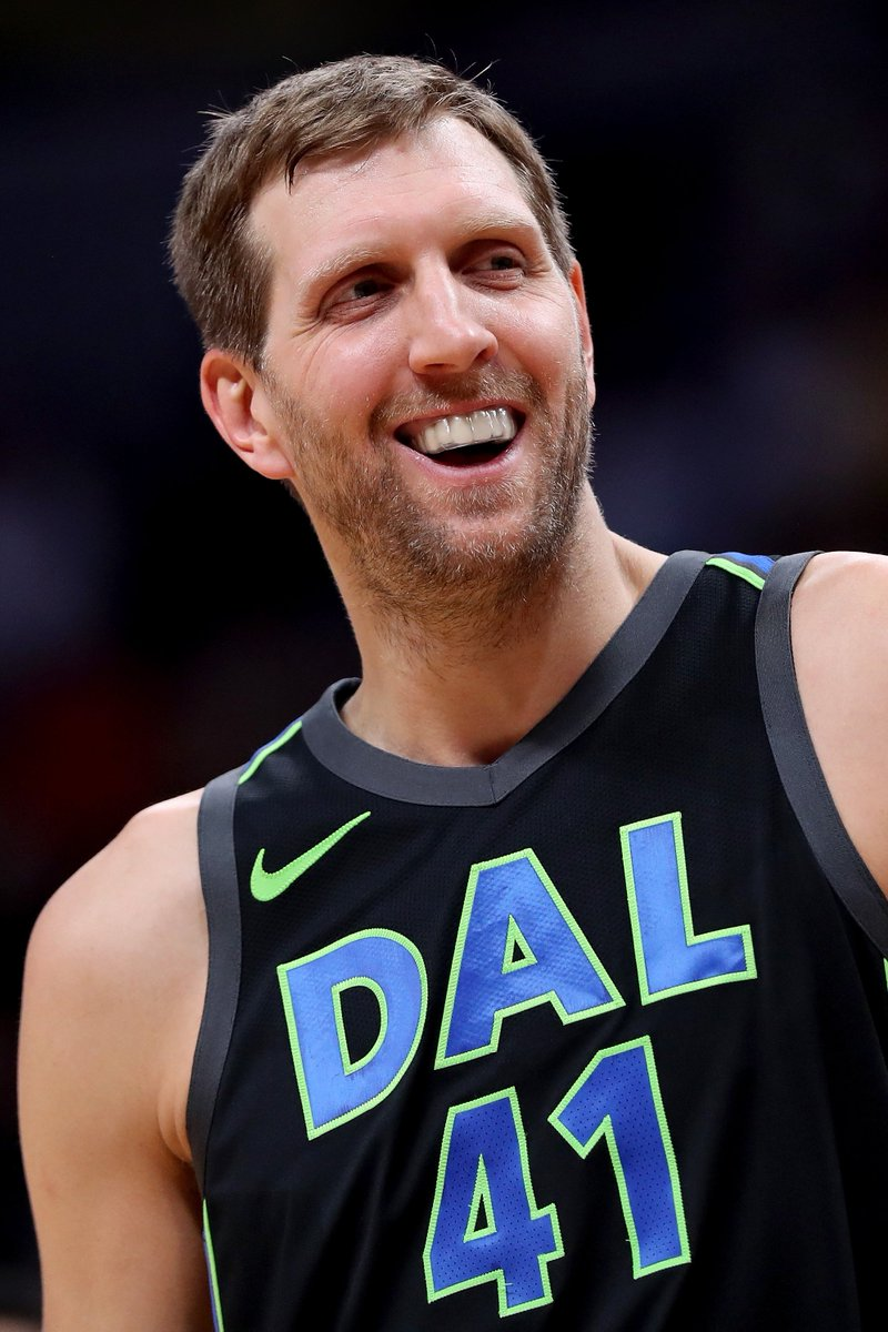 "Dirk's eating GOOD.  Big man says he's gained 15 pounds since retiring: ""I have not worked out once. … I've had ice cream almost every day""  (via @BenandSkin)"