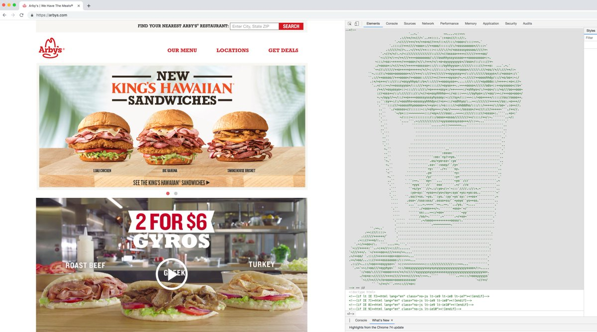 Another source code gem. Well done, @Arbys I'm heading there for lunch today!