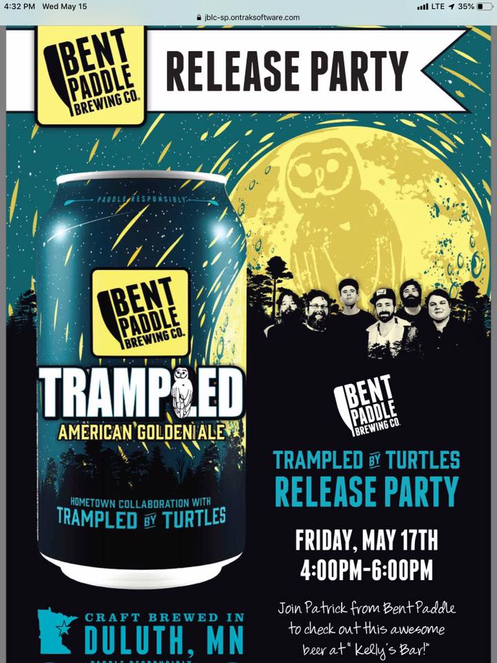 """Try the new beer from @bentpaddlebeer that celebrates the song """"Kelly's Bar"""" aka Kelly's Taphouse Bar & Grill by @tbtduluth. The party starts at 4pm today on the deck at Kelly's! . . , #craftbeer #RedWingMN #kellysbar"""