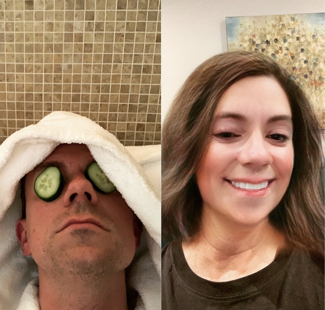 After a brutal week at work I really needed to devote some time to self-care.  My wonderful wife invited me to a half-day with her at the spa this morning, and now I'm a believer in treating yourself.  Check out my remarkable before &amp; after pics!  #FridayFeeIing  #YesFilter<br>http://pic.twitter.com/EMfggUxwLh