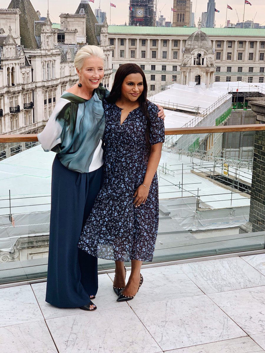 Here in London with the Dame for all things #LateNightMovie
